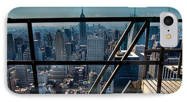 Stairways On Top Of Rockefeller Center Phone Case by Amy Cicconi