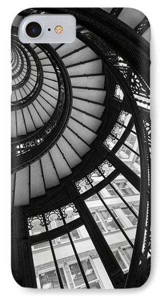 Stairwell The Rookery Chicago Il IPhone Case by Steve Gadomski