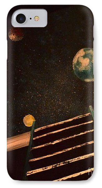 IPhone Case featuring the painting Stairwell To Heaven by Denise Tomasura