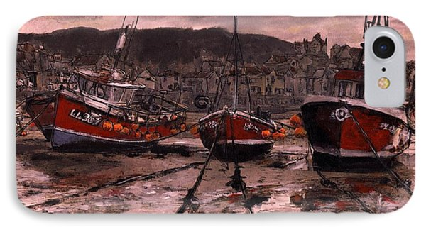 Staithes At Low Tide IPhone Case by Randy Sprout
