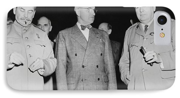 Stalin Truman And Churchill  IPhone Case