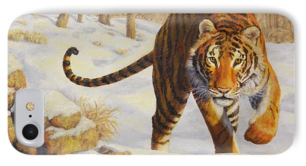Stalking Siberian Tiger Phone Case by Crista Forest
