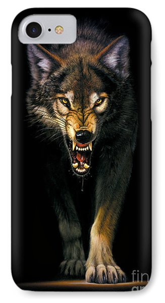 Stalking Wolf IPhone Case by MGL Studio - Chris Hiett