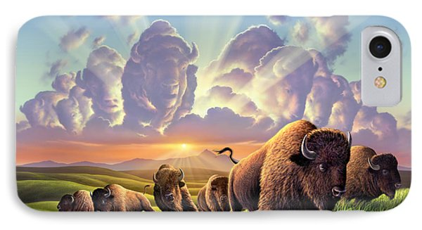 Stampede IPhone Case by Jerry LoFaro