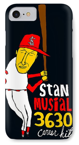 Stan Musial St Louis Cardinals Phone Case by Jay Perkins