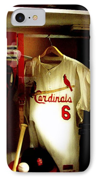 Stan The Man's Locker Stan Musial IPhone Case by Iconic Images Art Gallery David Pucciarelli