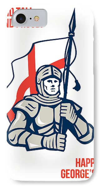 Stand Tall Proud English Happy St George Greeting Card Phone Case by Aloysius Patrimonio
