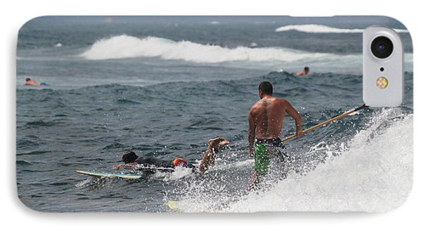Stand-up Paddleboard Man In The Surf IPhone Case