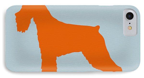 Standard Schnauzer Orange IPhone Case by Naxart Studio