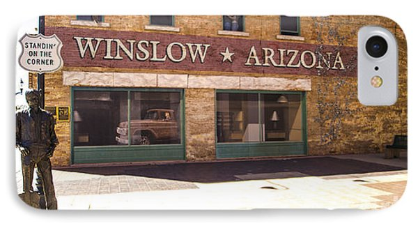 Standin On The Corner In Winslow Arizona IPhone Case by Deborah Smolinske