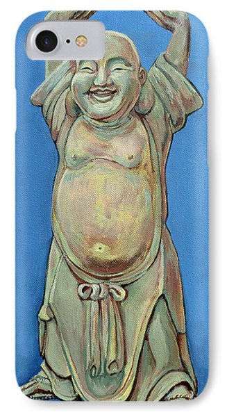 IPhone Case featuring the painting Standing Happy by Tom Roderick