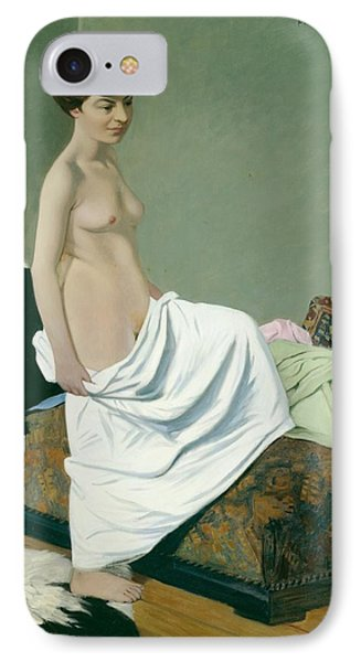 Standing Nude Holding A Gown On Her Knee Phone Case by Felix Edouard Vallotton