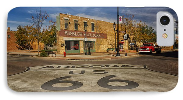 Standing On The Corner In Winslow Arizona Dsc08854 IPhone Case by Greg Kluempers