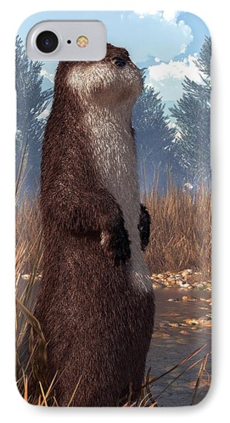 Standing Otter IPhone Case