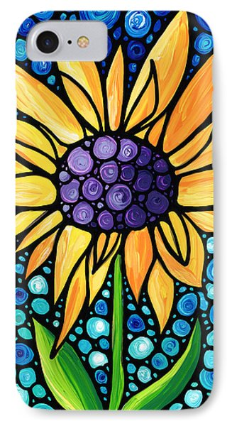 Standing Tall - Sunflower Art By Sharon Cummings IPhone Case