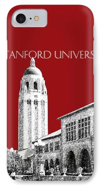 Stanford University - Dark Red IPhone Case by DB Artist