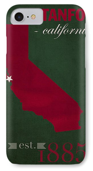 Stanford University Cardinal Stanford California College Town State Map Poster Series No 100 IPhone Case by Design Turnpike