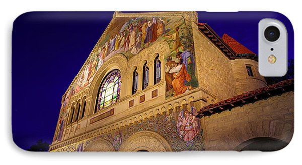 Stanford University Memorial Church IPhone Case by Scott McGuire
