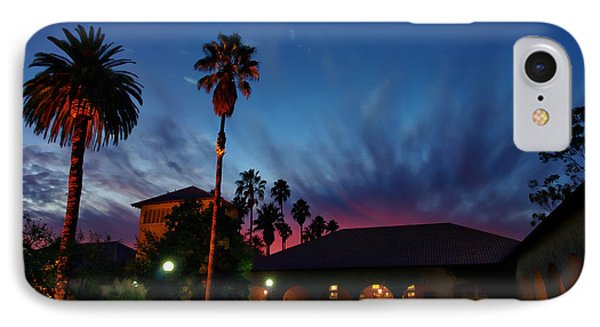 Stanford University Quad Sunset IPhone Case by Scott McGuire