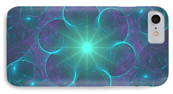 IPhone Case featuring the digital art Star Baubles by Ursula Freer