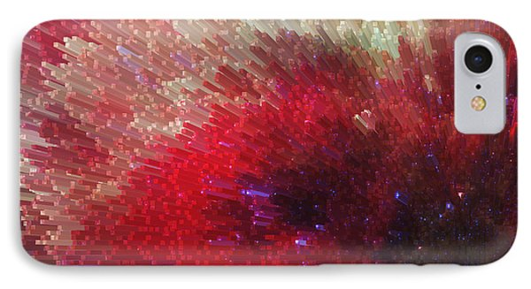 Star Burst - Red Abstract Art By Sharon Cummings Phone Case by Sharon Cummings