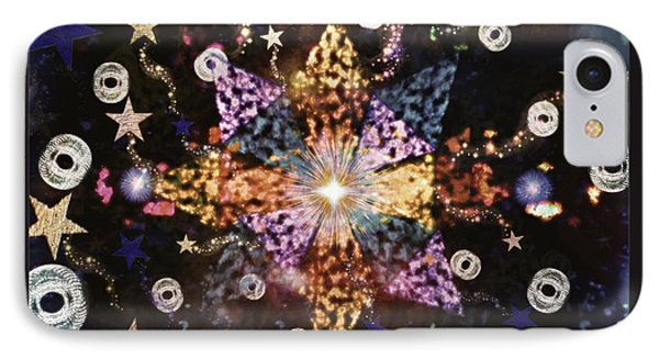 Star Burst IPhone Case by Sherry Flaker