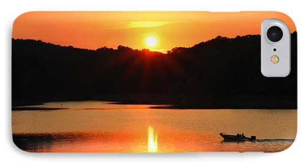 IPhone Case featuring the photograph Star Burst Sunset by Lorna Rogers Photography