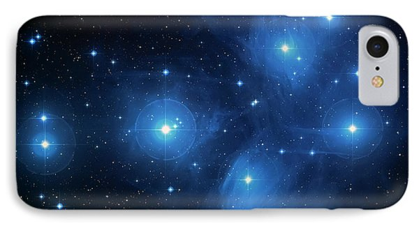 Star Cluster Pleiades Seven Sisters IPhone Case by Jennifer Rondinelli Reilly - Fine Art Photography