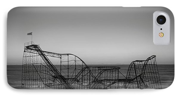 Star Jet Roller Coaster Bw Phone Case by Michael Ver Sprill