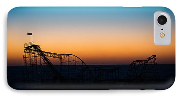 Star Jet Roller Coaster Silhouette  Phone Case by Michael Ver Sprill