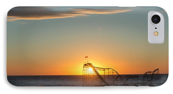 Star Jet Sunrise Silhouettte Phone Case by Michael Ver Sprill