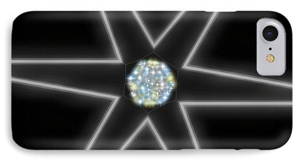 Star Of Creation Digital Art By Saribelle Rodriguez IPhone Case