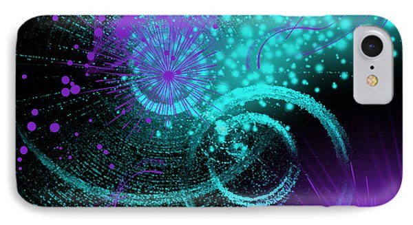 IPhone Case featuring the digital art Star Party by Hanza Turgul