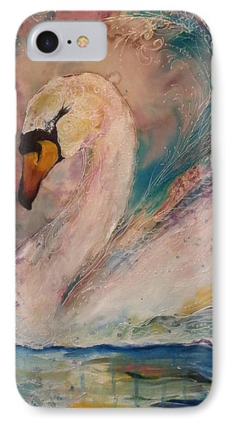 Star Swan  IPhone Case by Christy  Freeman