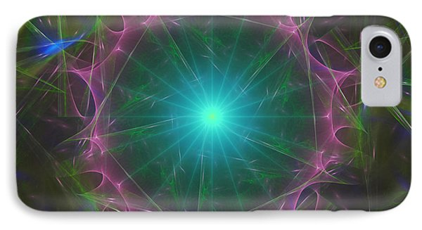 IPhone Case featuring the digital art Star System 7 by Ursula Freer