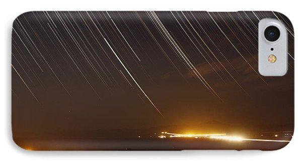 Star Trails Above A Village Phone Case by Amin Jamshidi