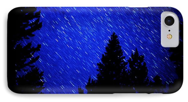 Star Trails In Night Sky Phone Case by Lane Erickson