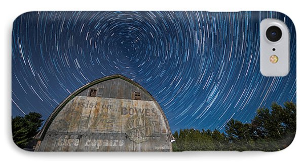 Star Trails Over Barn IPhone Case by Paul Freidlund