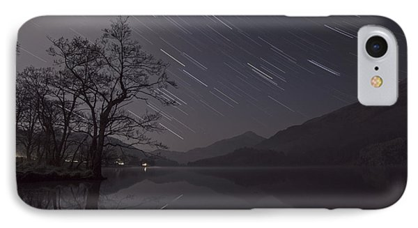 Star Trails Over Lake IPhone Case by Beverly Cash