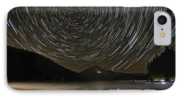 Star Trails Over Mount Hood At Trillium Lake IPhone Case
