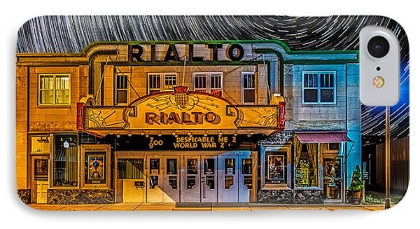 Star Trails Over The Rialto IPhone Case by Paul Freidlund