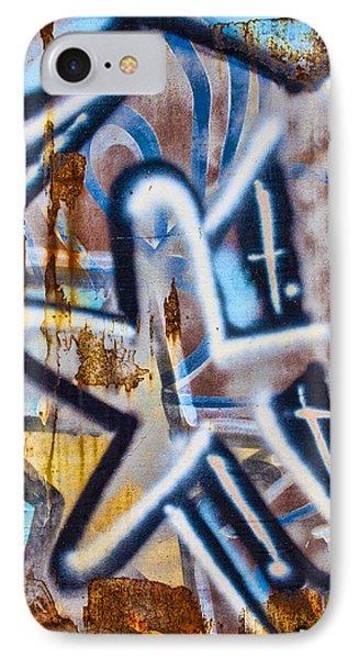 Star Train Graffiti IPhone Case by Carol Leigh