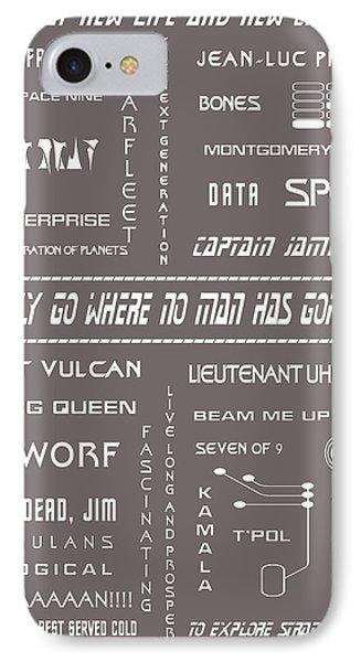 Star Trek Remembered In Grey IPhone Case by Georgia Fowler