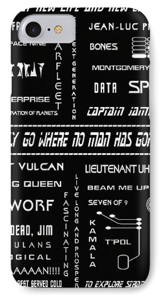 Star Trek Remembered IPhone Case by Georgia Fowler