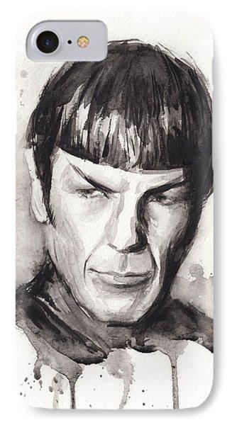 Star Trek Spock Portrait Sci-fi Art IPhone Case by Olga Shvartsur