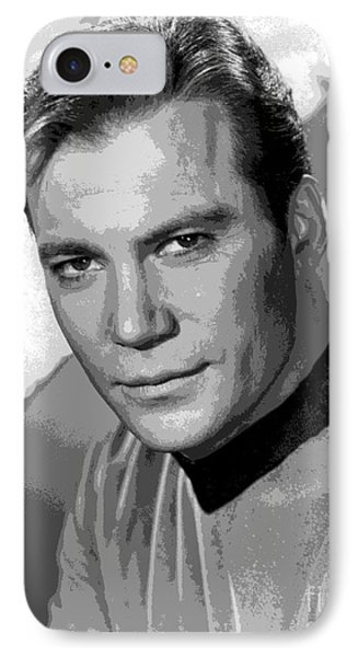 Star Trek William Shatner Pre 1970 IPhone Case by R Muirhead Art