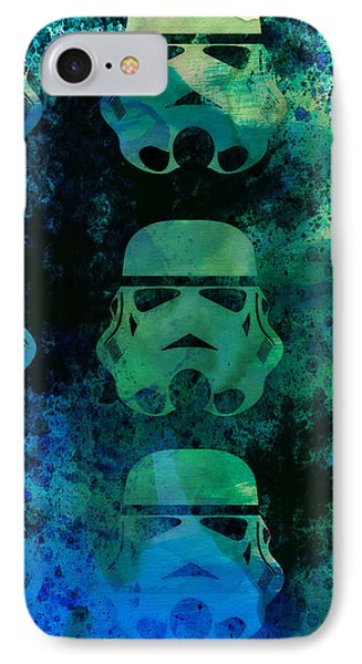 Star Warriors Watercolor 1 IPhone Case by Naxart Studio