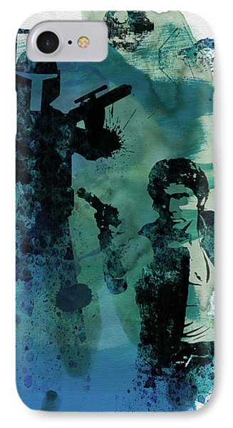 Star Warriors Watercolor 2 IPhone Case by Naxart Studio