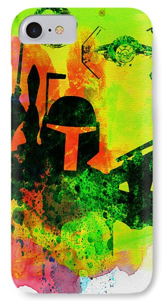 Star Warriors Watercolor 3 IPhone Case