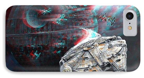 Star Wars 3d Millennium Falcon IPhone Case by Paul Van Scott